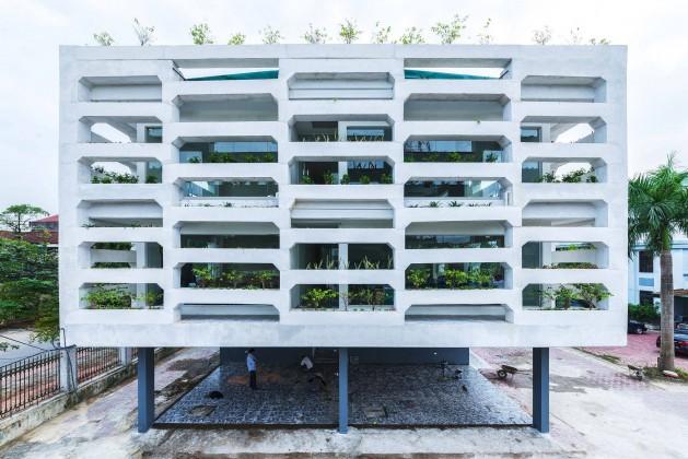 nguyen tien thanh,sürdürülebilirlik,ofis tasarımı,kentsel tarım,doan thanh ha,tran ngoc phuong,yeşil bina,dikey bahçe