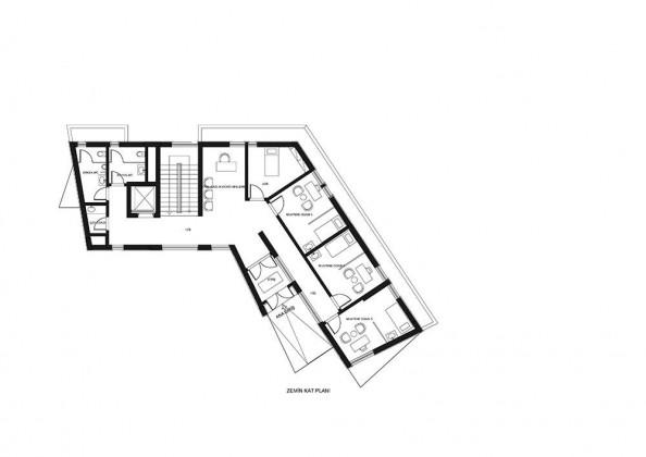 yeşilova hizmet binası, plan, akyürek elmas mimarlık