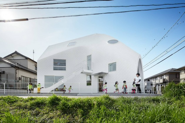 clover house, mad architects, anaokulu, japonya