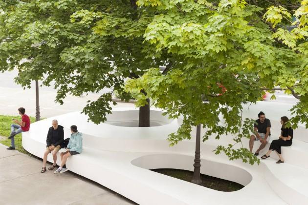 Atelier Pierre Thibault,Le Banc de neige, kanada, yerleştirme, xxi mimarlık tasarım mekan dergisi