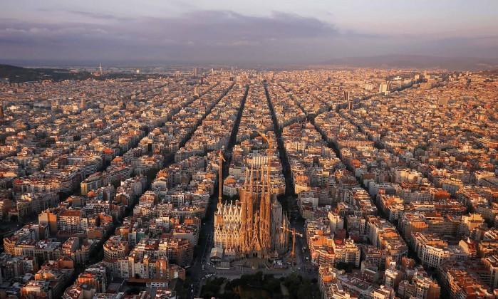 Eixample, Cerda'nın planının uygulanan bölümü, Barselona