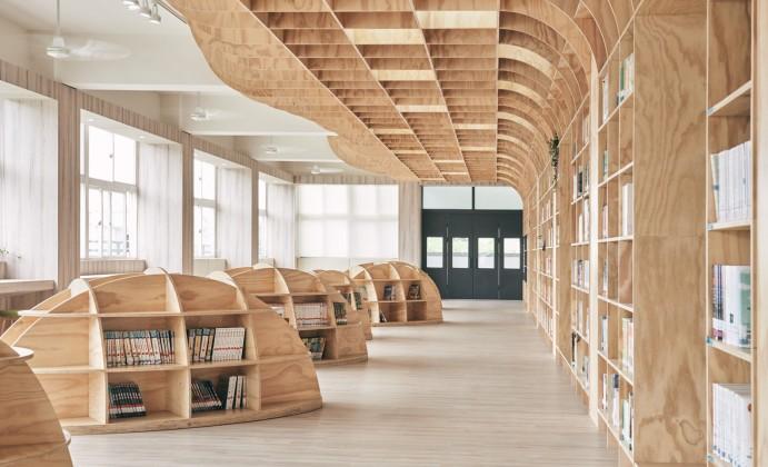Lishin İlkokulu kütüphanesi, Tali Design